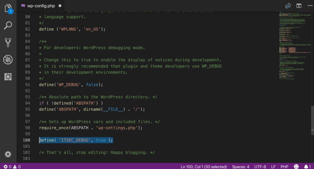 iThemes Security debug